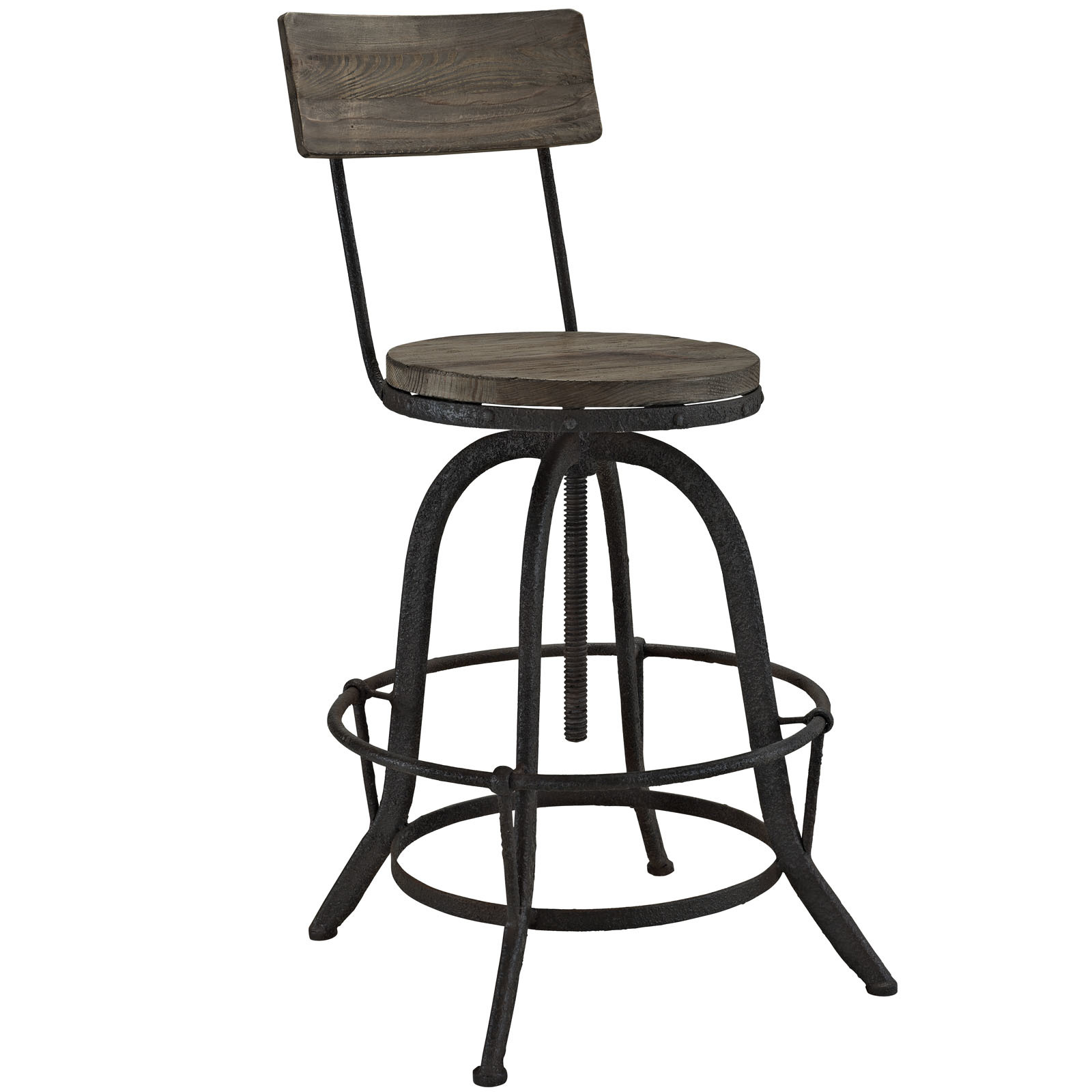 Superb img of  Furniture > Bar Stools > See more LexMod Procure Wood Bar Stool in with #5A5146 color and 1600x1600 pixels