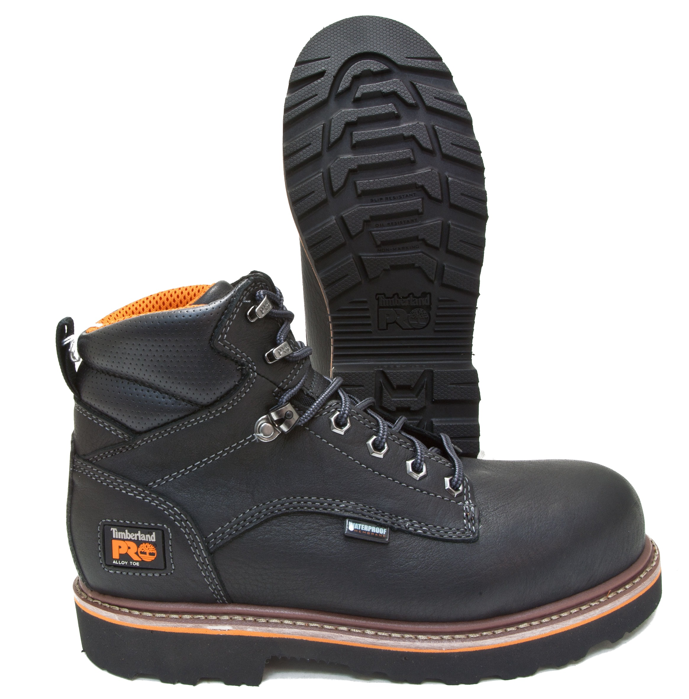 timberland pro ascender black leather waterproof alloy toe