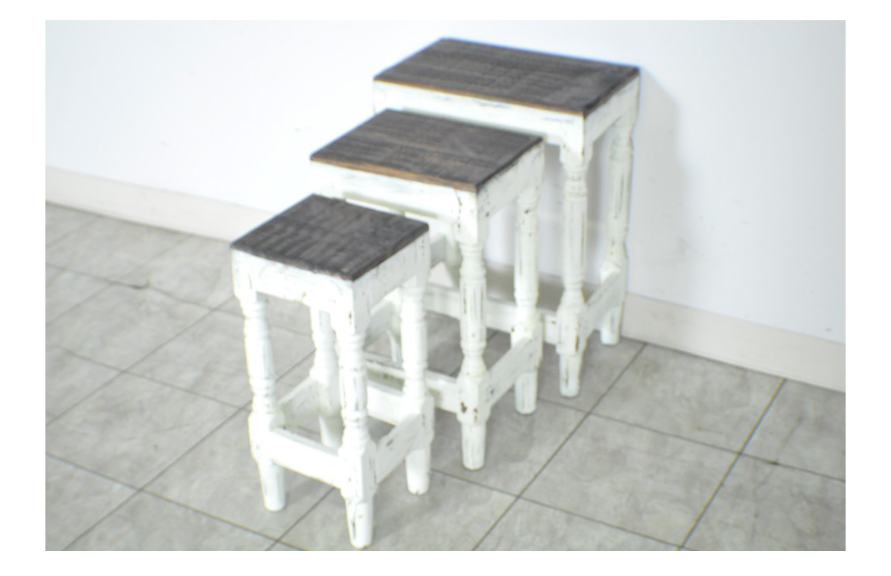 Set Of 3 Nesting Side Tables Distressed Rustic Finish Accent Table Top . Full resolution  image, nominally Width 1275 Height 825 pixels, image with #7D6C4E.