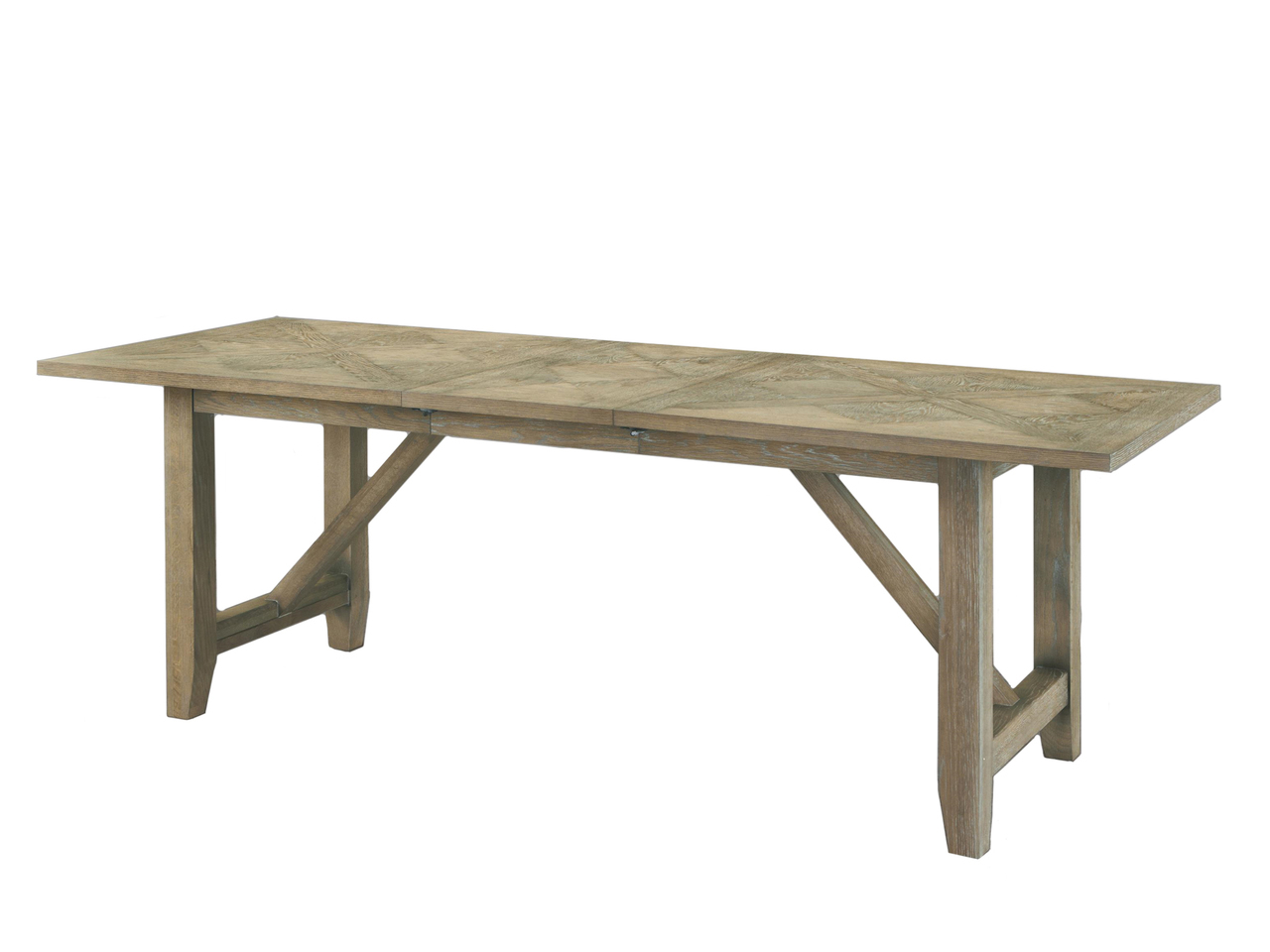 Light rustic oak leg dining table ebay for Dining table support