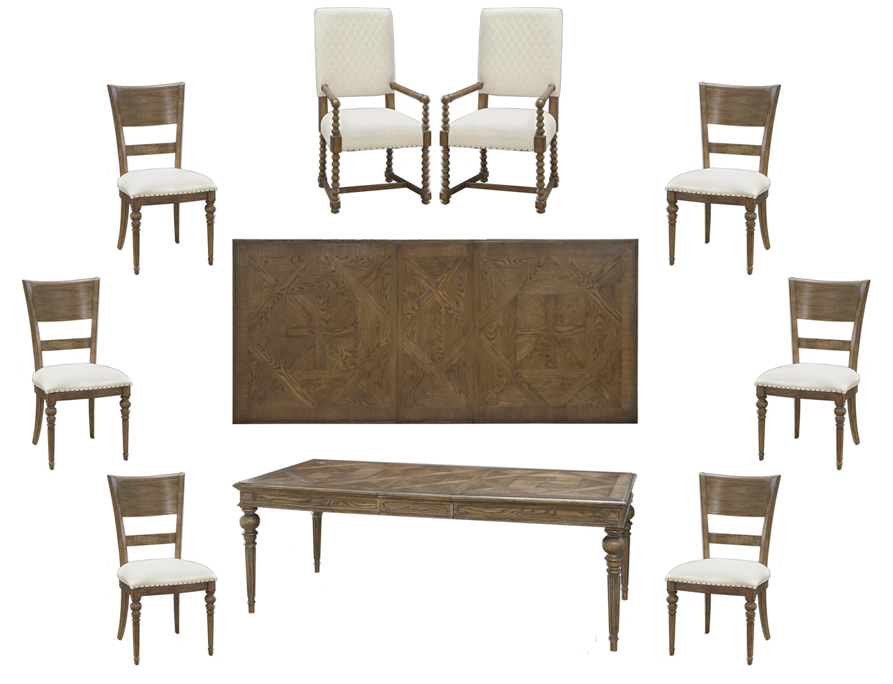 9pc Formal Dining Table And 28 Images Seymour 9pc