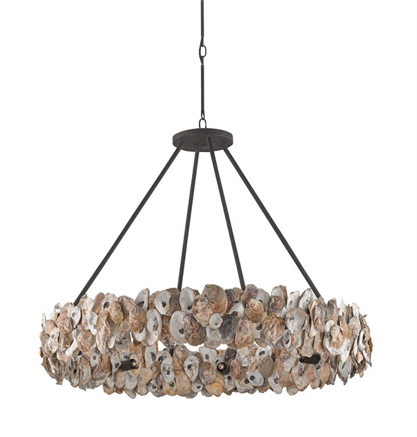 Oyster Circle Wrought Iron Chandelier