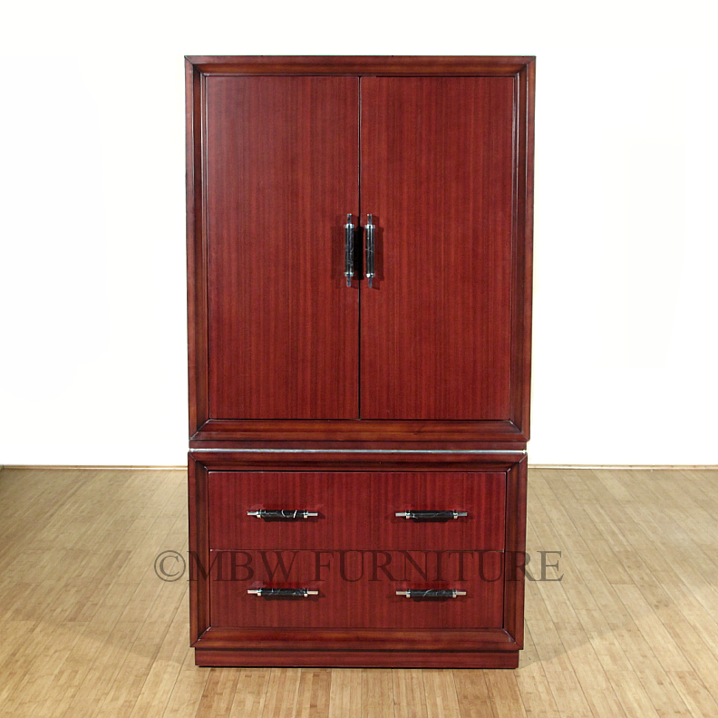 Cherry art deco tv entertainment armoire wardrobe for Entertainment armoire