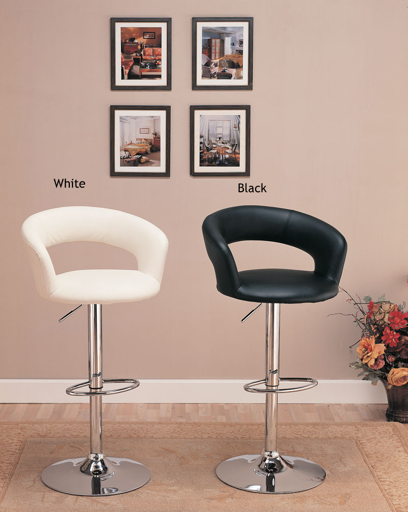 Mattress Direct New Orleans Details about Pair of 2 Chrome Black Vinyl Bar Chairs 29? H