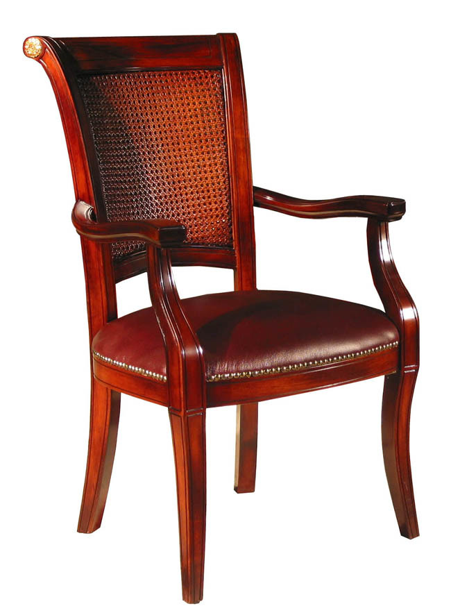 Pair of 2 rosewood leather baroque arm chairs ebay for Plastic baroque furniture