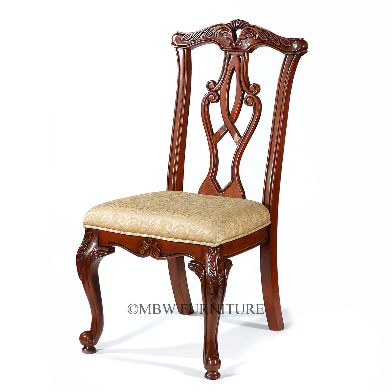 Pair Of 2 Solid Cherry Chippendale Dining Side Chairs Ebay