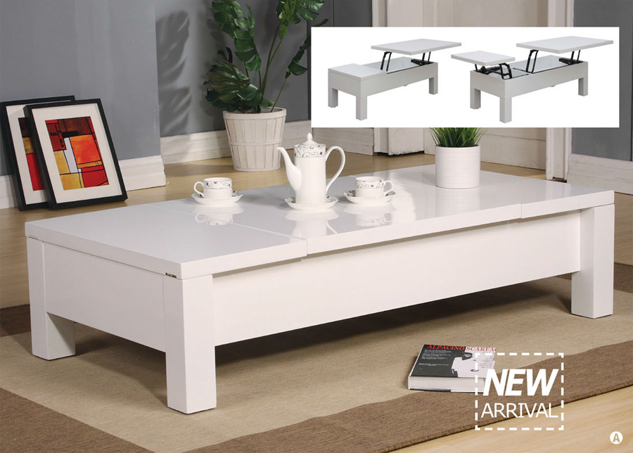 Morie White Contemporary Lift Top Coffee Table Ebay