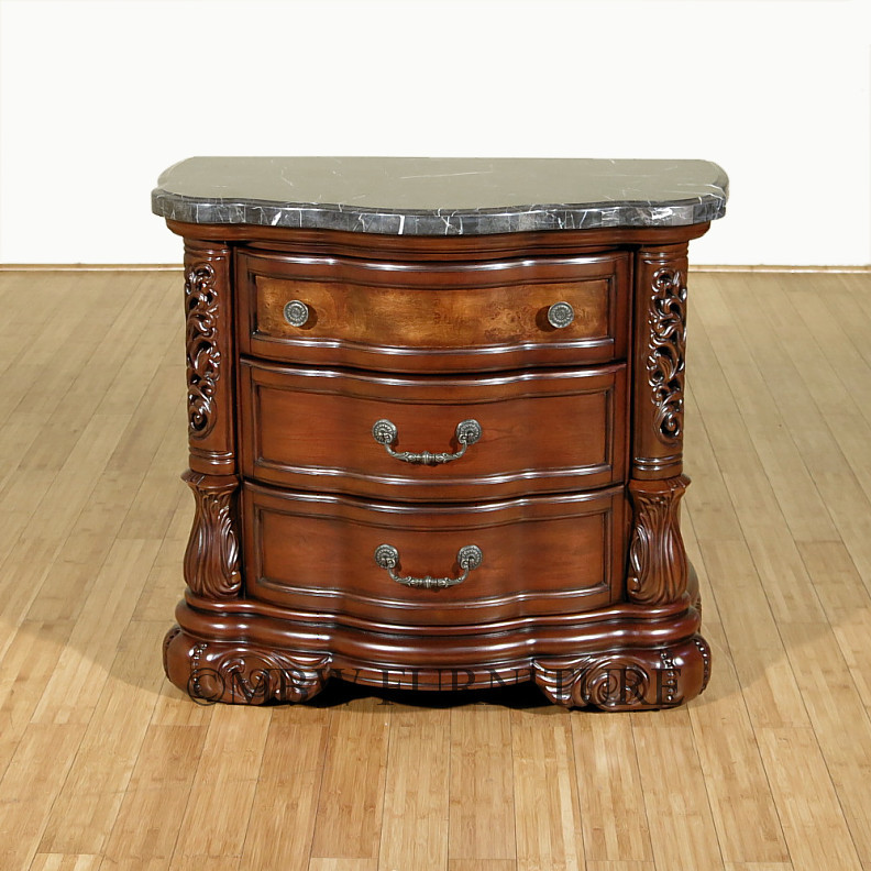 Fruitwood Rococo 3 Drawer Marble Top Nightstand Side Table  : MA N59040 4724093 from www.ebay.com size 792 x 792 jpeg 168kB