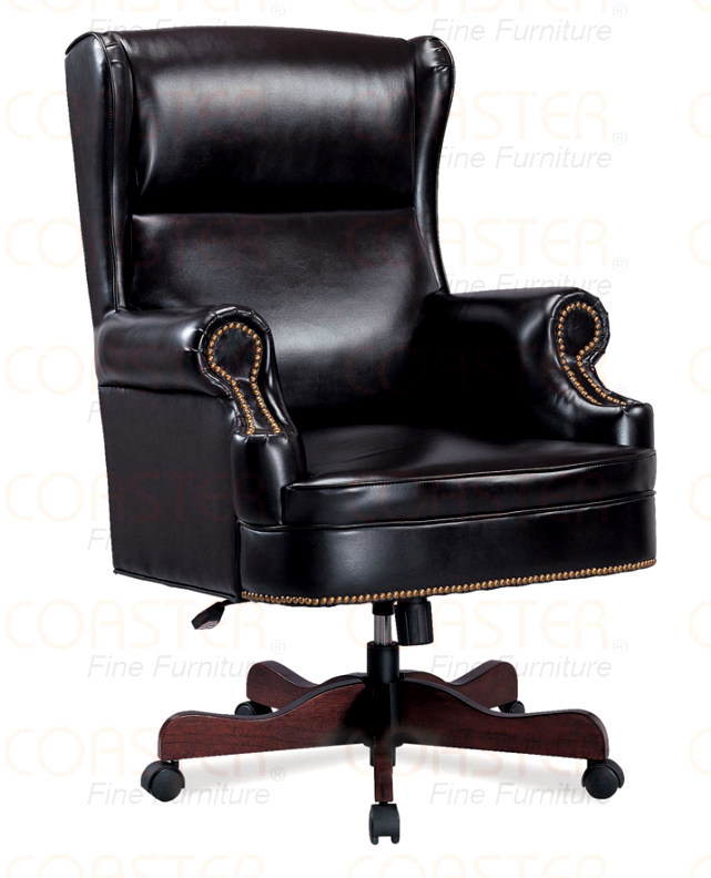black faux leather upholstered executive office chair ebay