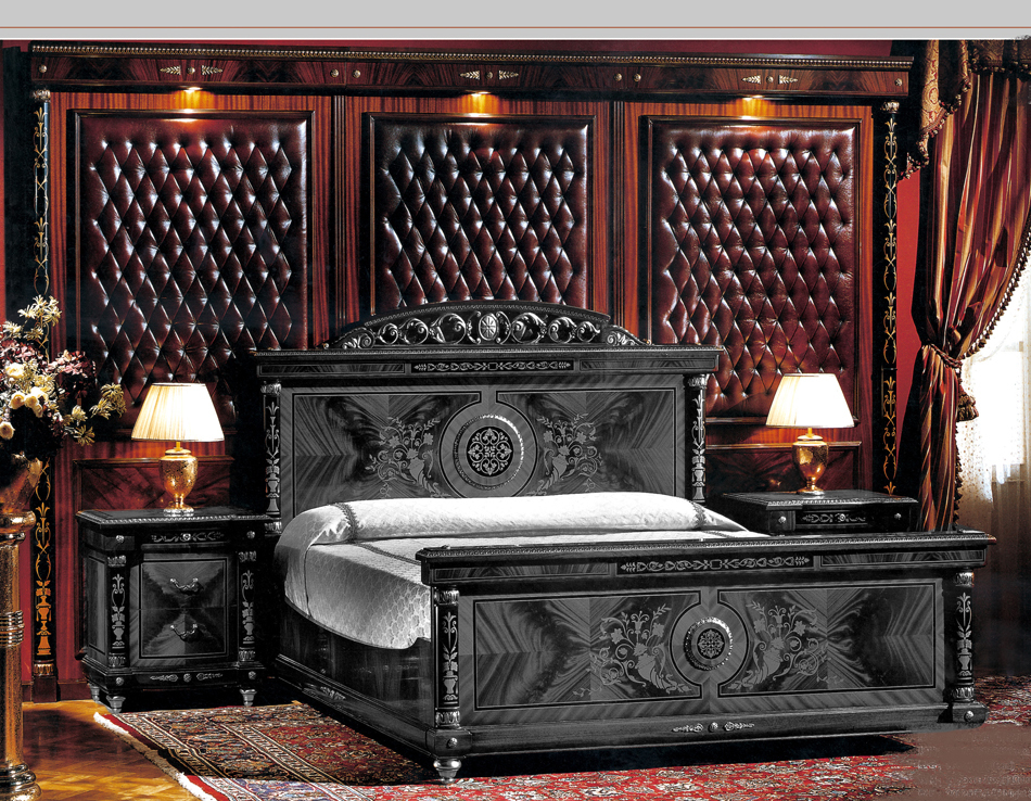 Cherry burgundy leather french empire bed backboard ebay for Bed backboard designs