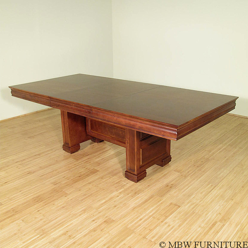 7 5ft mahogany rectangular pedestal dining table w leaf for Rectangular pedestal dining table