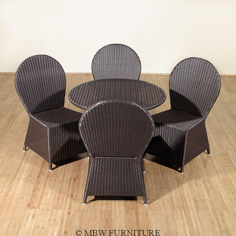 Brown Rattan 5 Pc Patio Dining Set