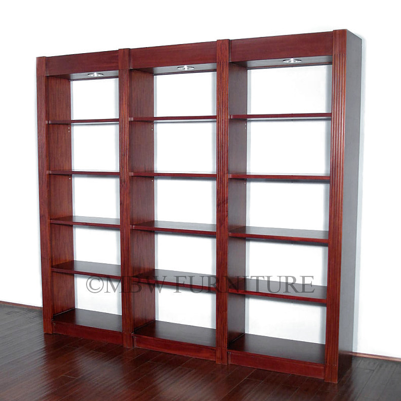 22 excellent open shelving bookcases for Furniture of america nara contemporary 6 shelf tiered open bookcase