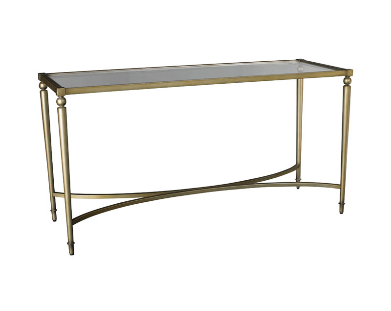 Champagne Metal Glass Console Sofa Table Ebay