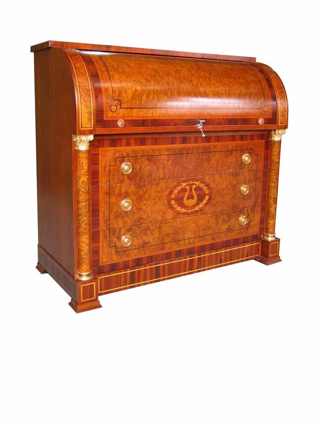 Sandalwood Classic Grecian Roll Top Secretary Desk Ebay