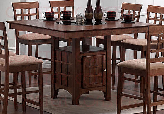 4Ft Square Walnut Dining Bar Table w Lazy Susan amp Cabinet  : C10143874213 from www.ebay.com size 542 x 378 jpeg 78kB
