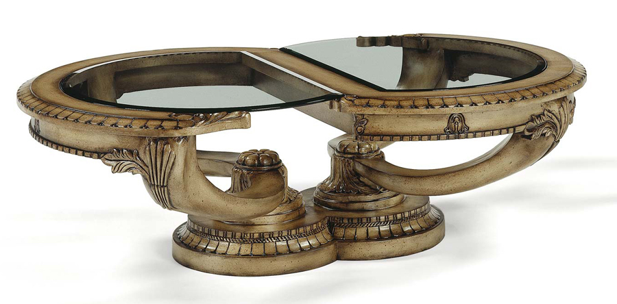 Antiqued Cream Classical Italian Baroque Coffee Table Ebay