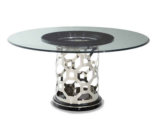 titanium glass 60in round dining table ma19001 gl60 16 30 0h 60 0w 60