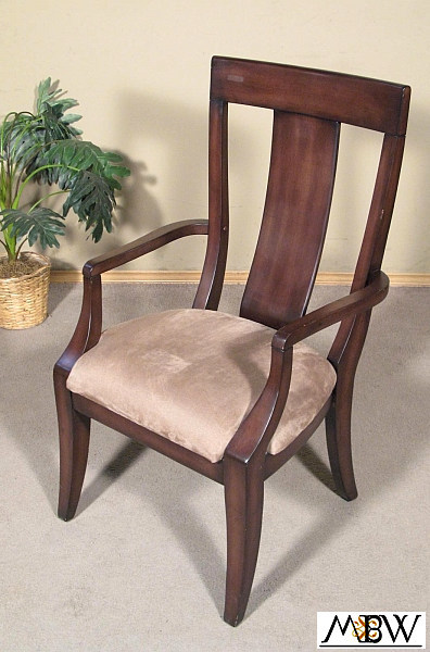 Chocolate mahogany art deco taupe arm chair - Deco taupe ...