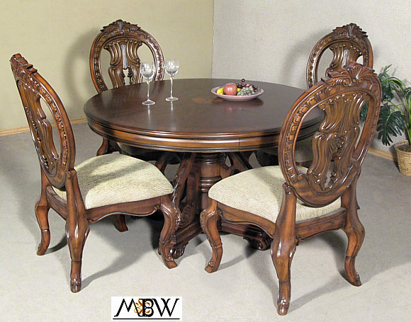 details about 5 pc dining suite w 52in round table