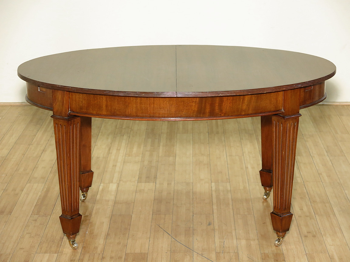 Dining Table On Casters Swedish Gustavian
