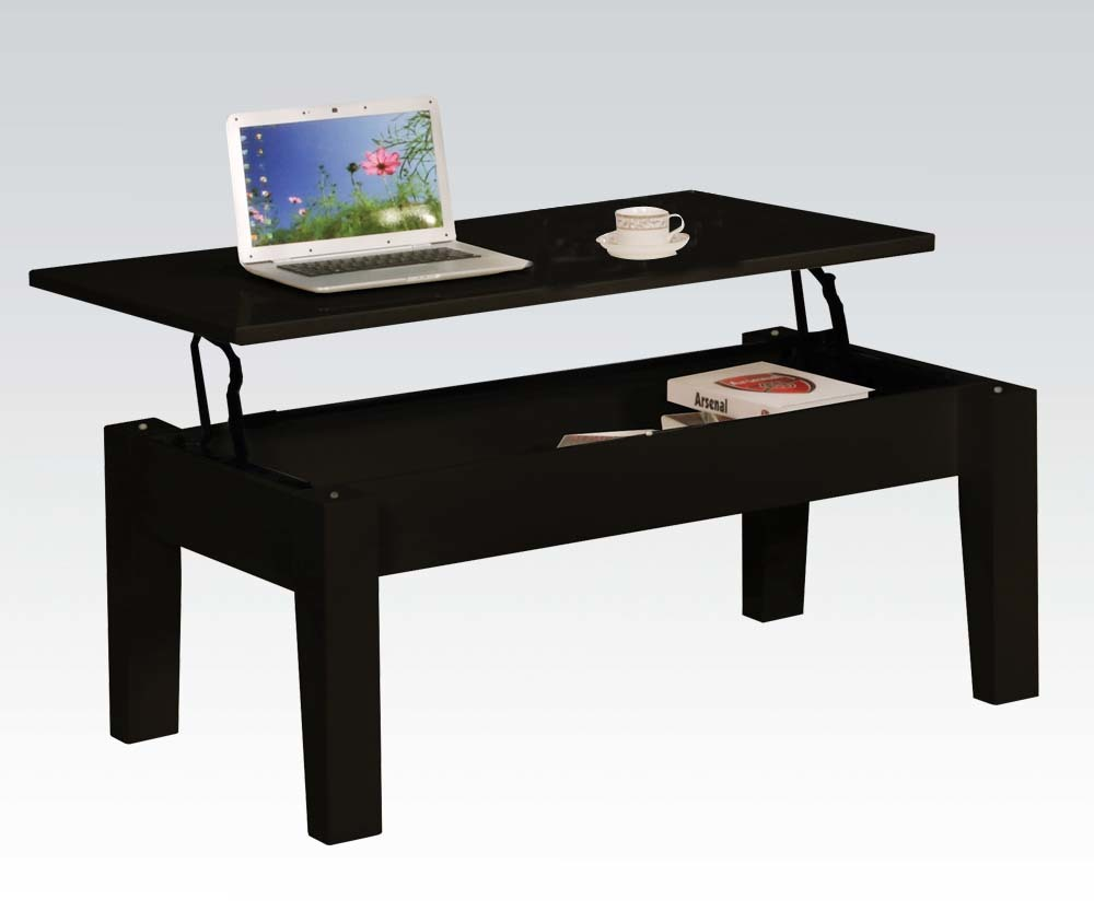Black modern lift top coffee table ebay Black lift top coffee tables
