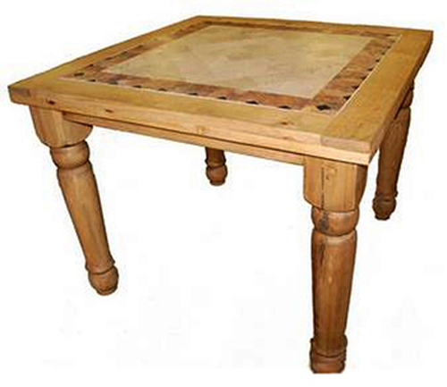 42in pub 4 square table w marble inlay ebay for 10 inch high table