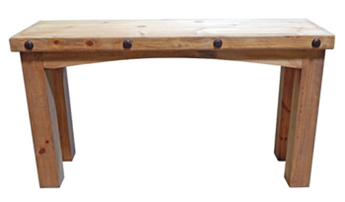 Square Table Legs : Beautiful Square Leg Sofa table with decorative conchos. Occasional ...