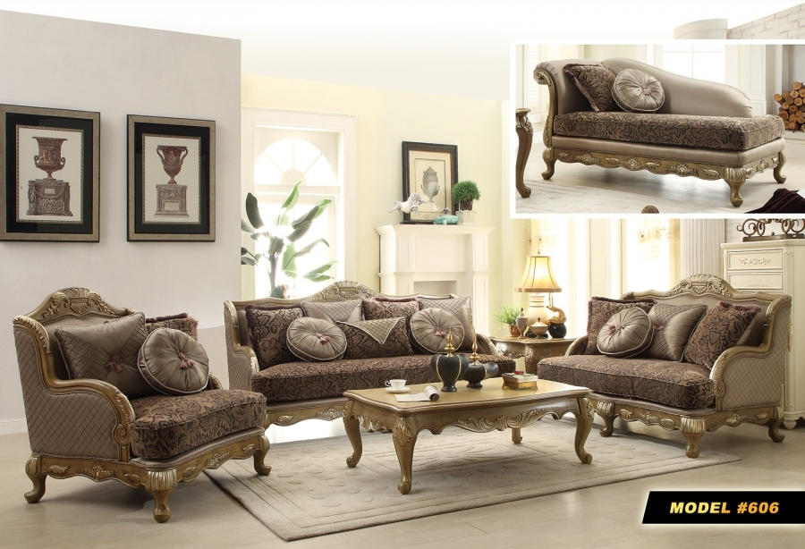 Meridian 606 6 Pc Pewter Finish French Provincial Living Room Set Ebay