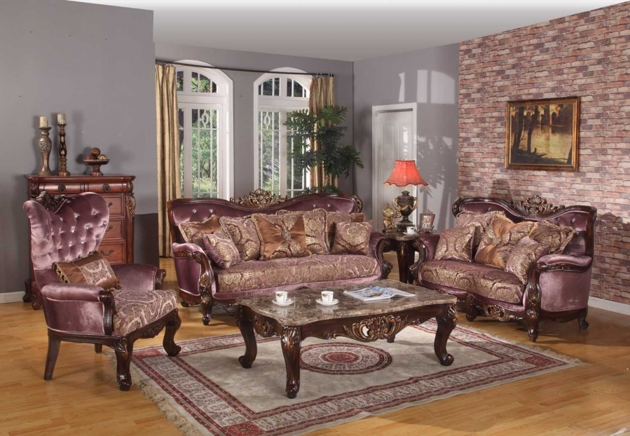 meridian furniture 683 5 pc living room set french