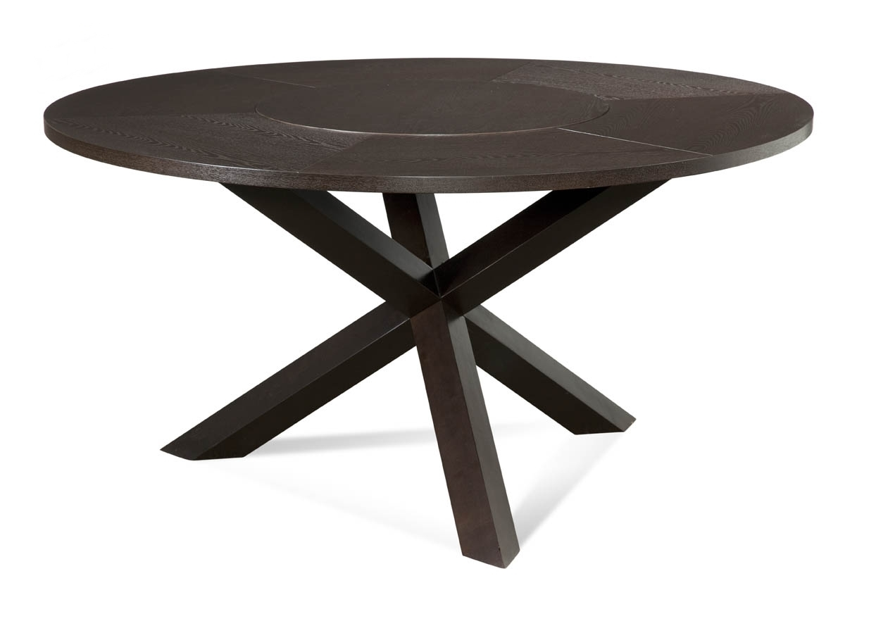 Trina cross leg contemporary round dining table ebay - Crossed leg dining table ...
