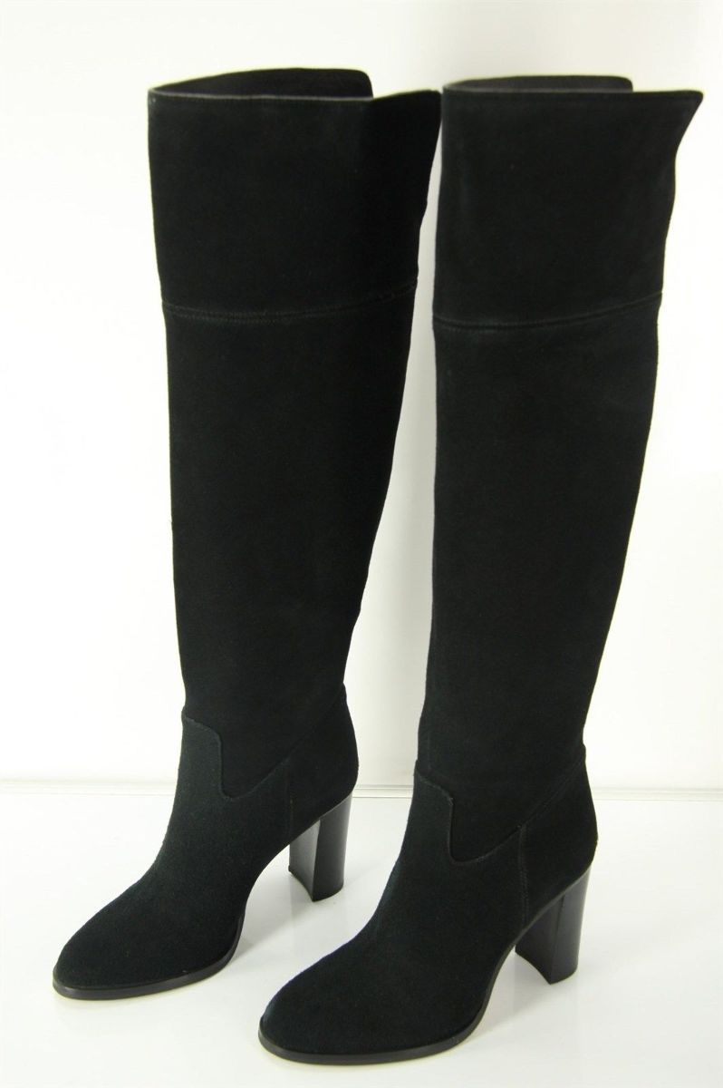 michael kors black suede boots size high heel