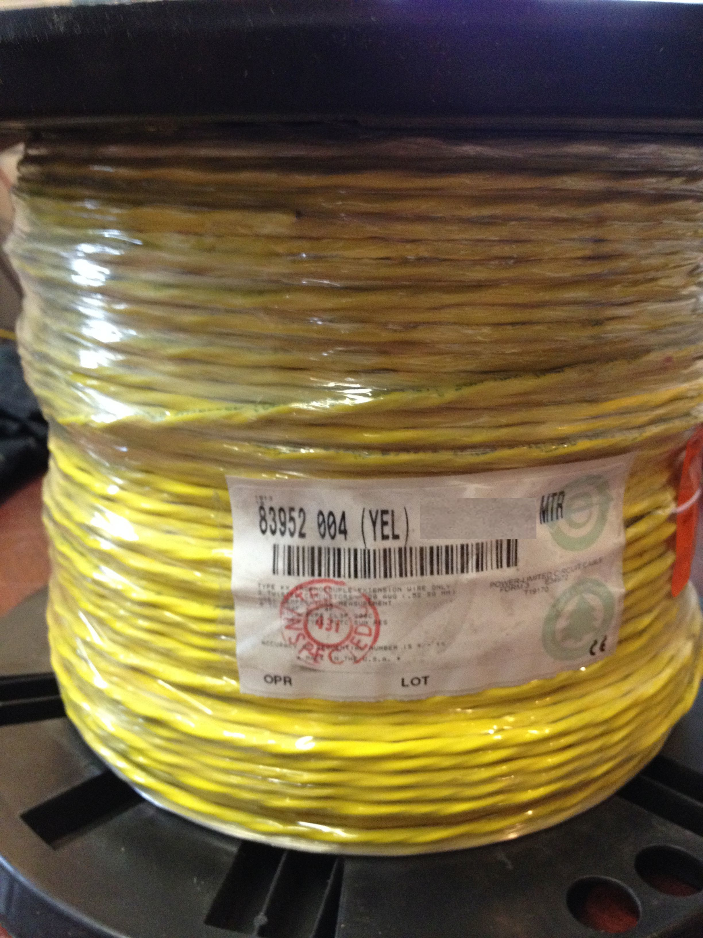 Belden Thermocouple Cable : Belden thermocouple wire type kx teflon fep shielded