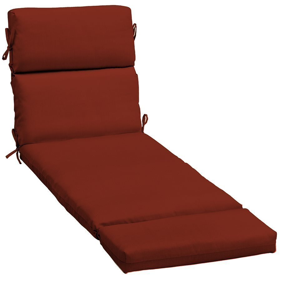 Red High Outdoor Back Seat Chair Chaise Cushion Patio
