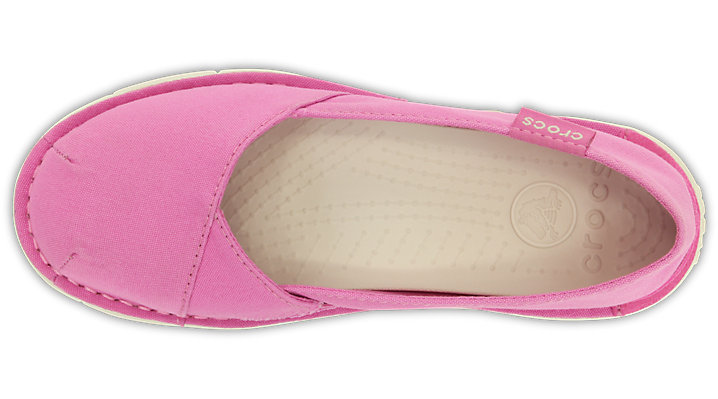 Crocs-Girls-039-Cabo-Slip-On-Sneaker-Party-Pink-Stucco thumbnail 7