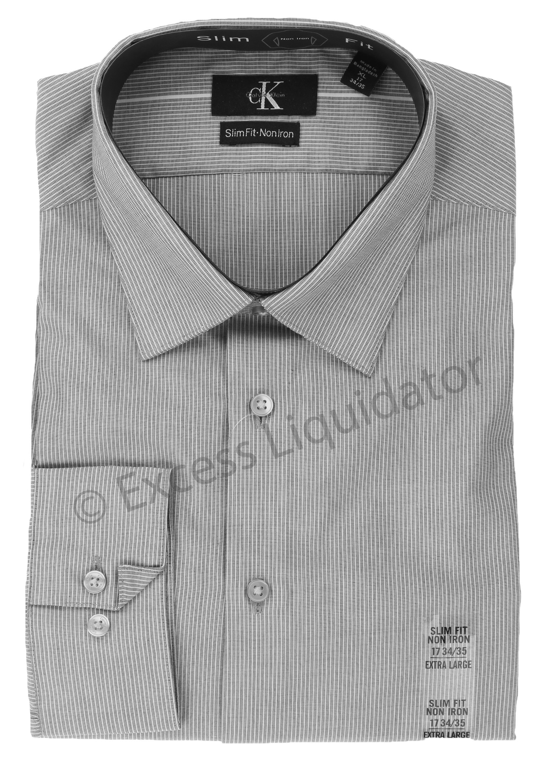 Calvin klein men 39 s slim fit non iron dress shirt ebay for Calvin klein slim fit stretch shirt