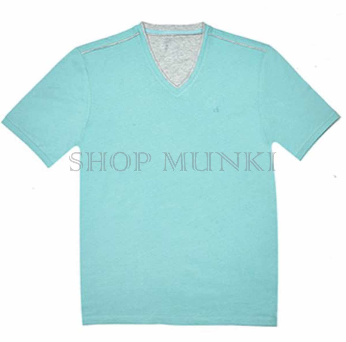 Calvin klein mens pima cotton v neck t shirt ebay for Pima cotton tee shirts