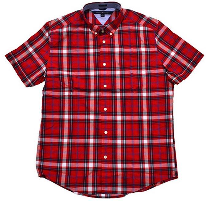 Tommy Hilfiger Mens Short Sleeve Classic Fit Button Down