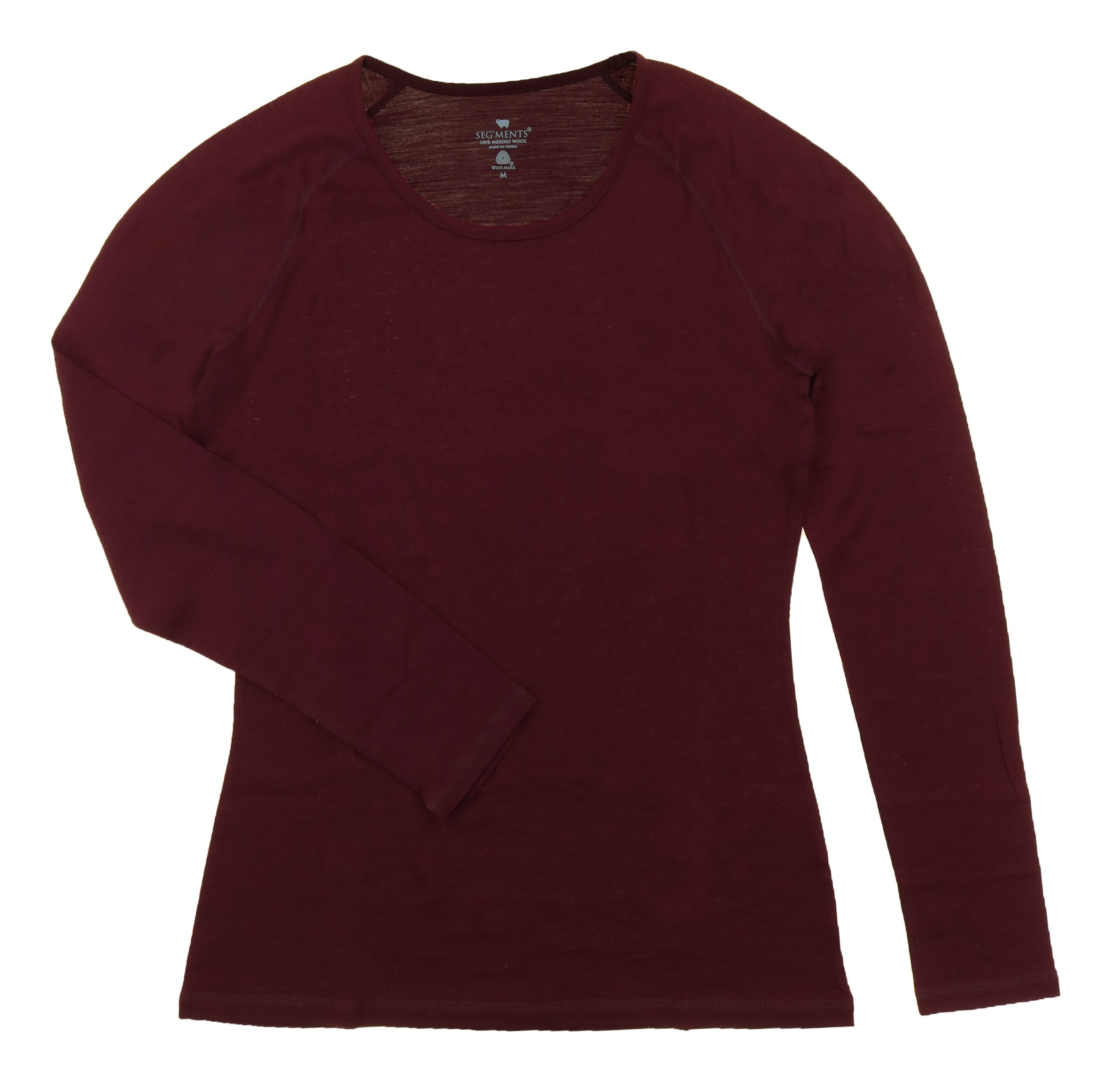 Seg 39 ments women 39 s scoop neck long sleeve merino wool for Merino wool shirt womens