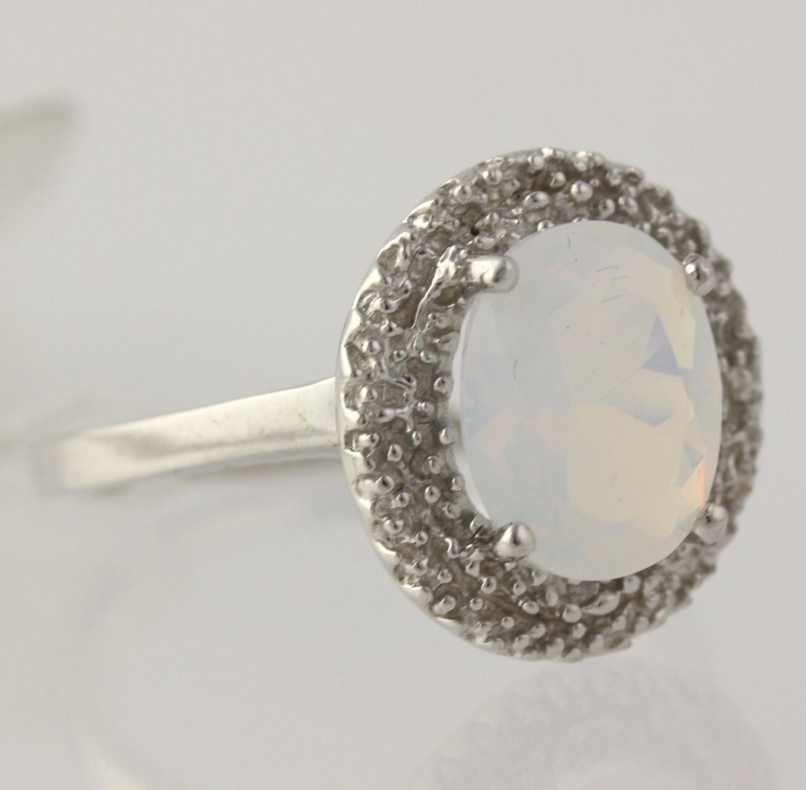 new opalite statement ring 925 sterling silver band. Black Bedroom Furniture Sets. Home Design Ideas