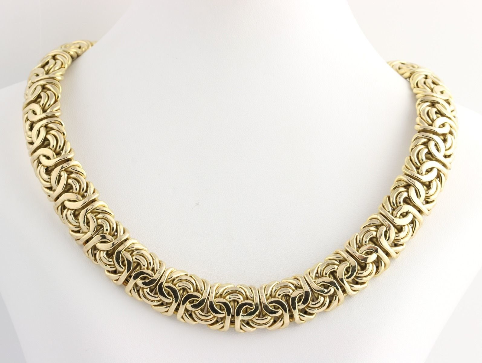 byzantine chain necklace 18 75 034 14k yellow gold large