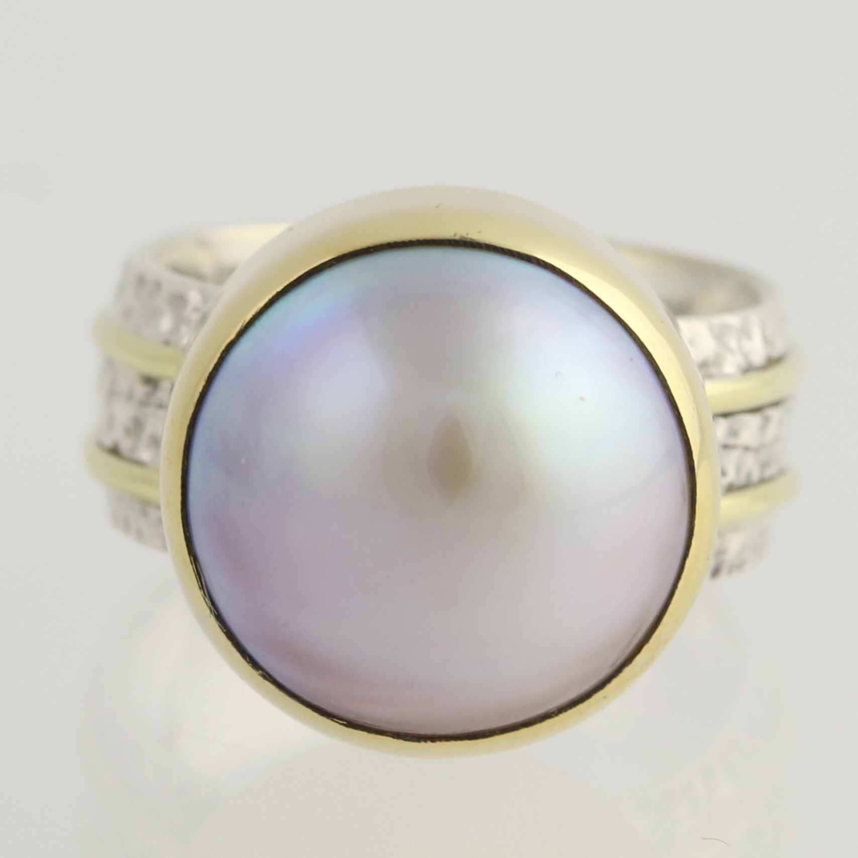 cultured pearl cocktail ring sterling silver 18k