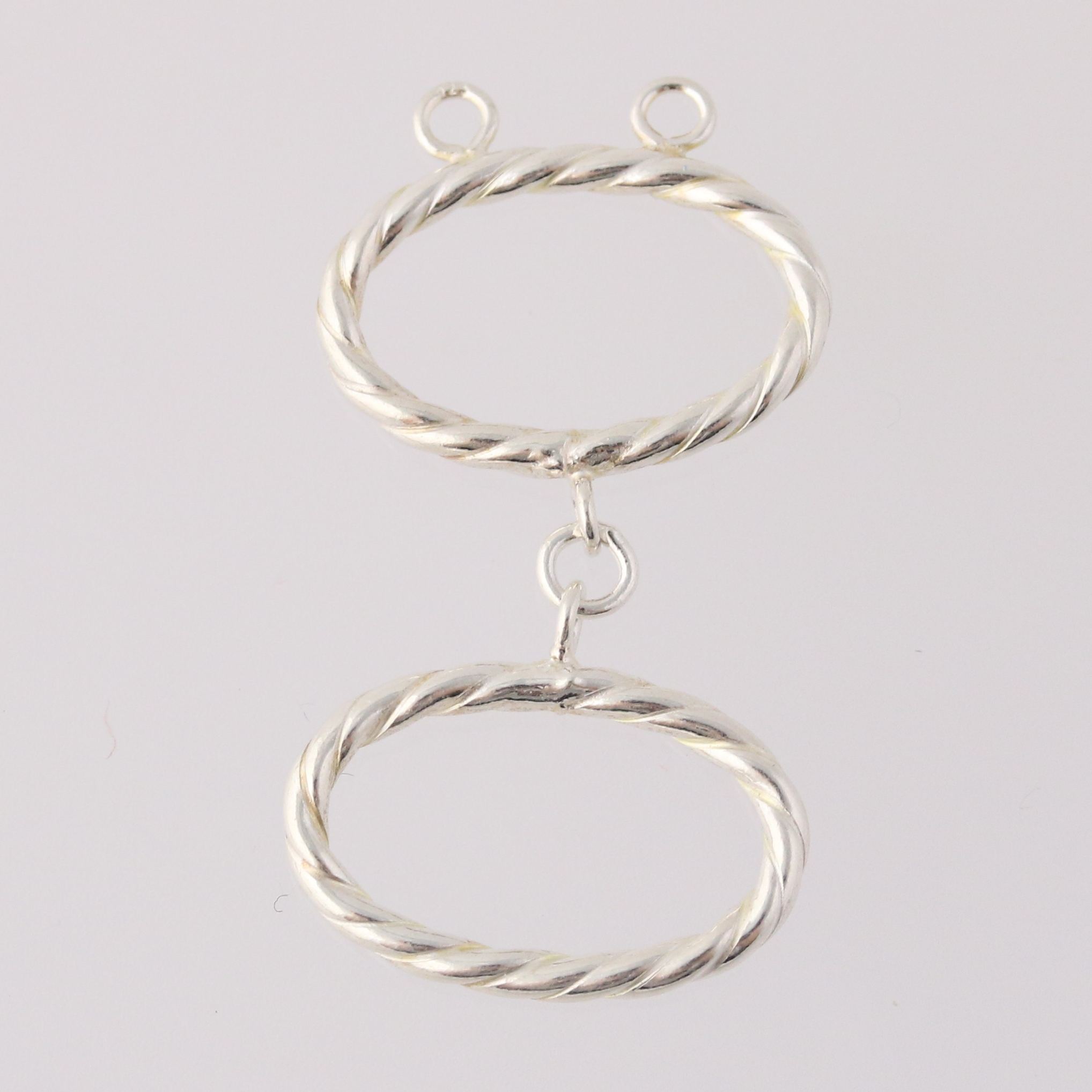 ring toggle clasp sterling silver 925 findings jewelry