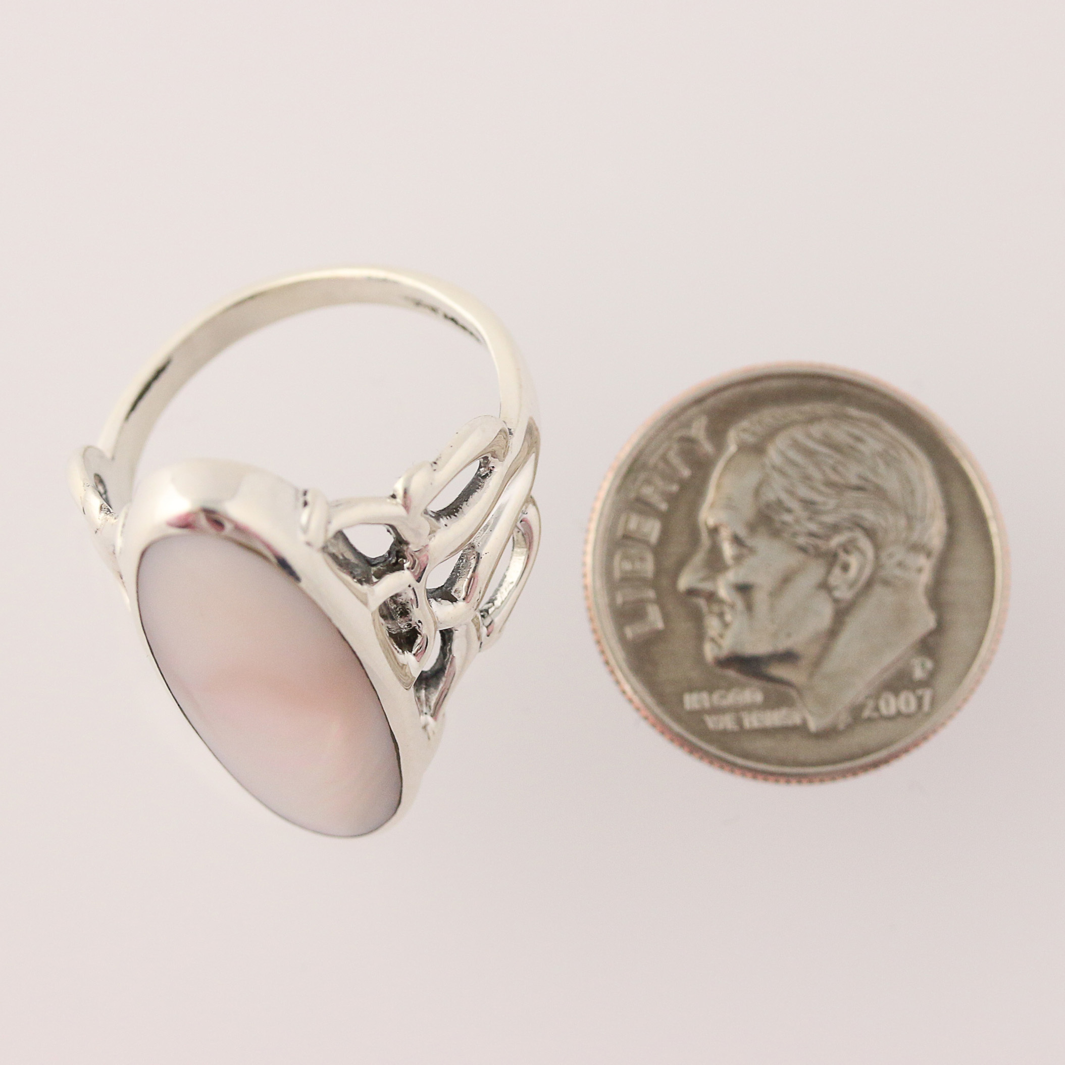 new kabana of pearl ring sterling silver size 6