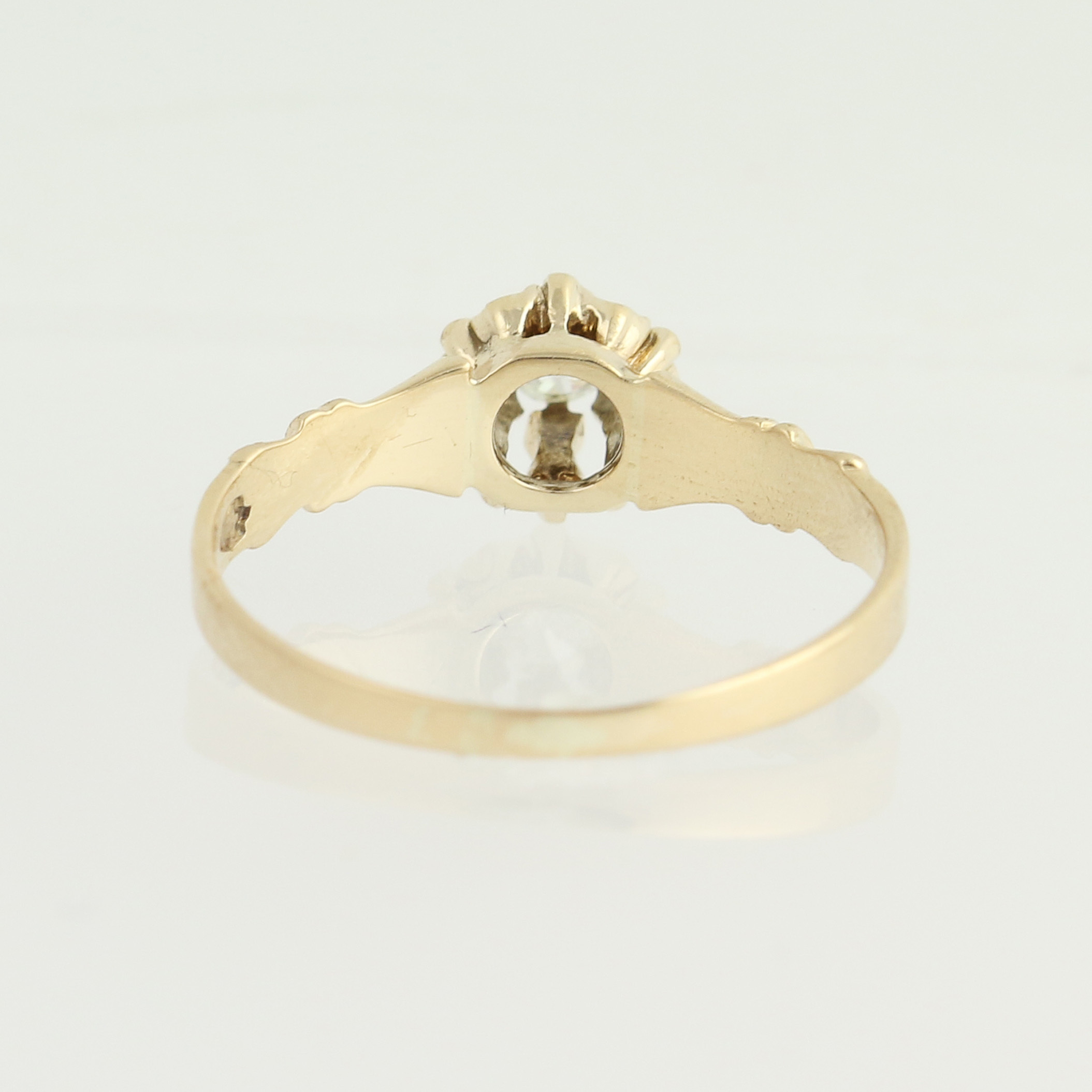 victorian diamond engagement ring 14k yellow gold. Black Bedroom Furniture Sets. Home Design Ideas