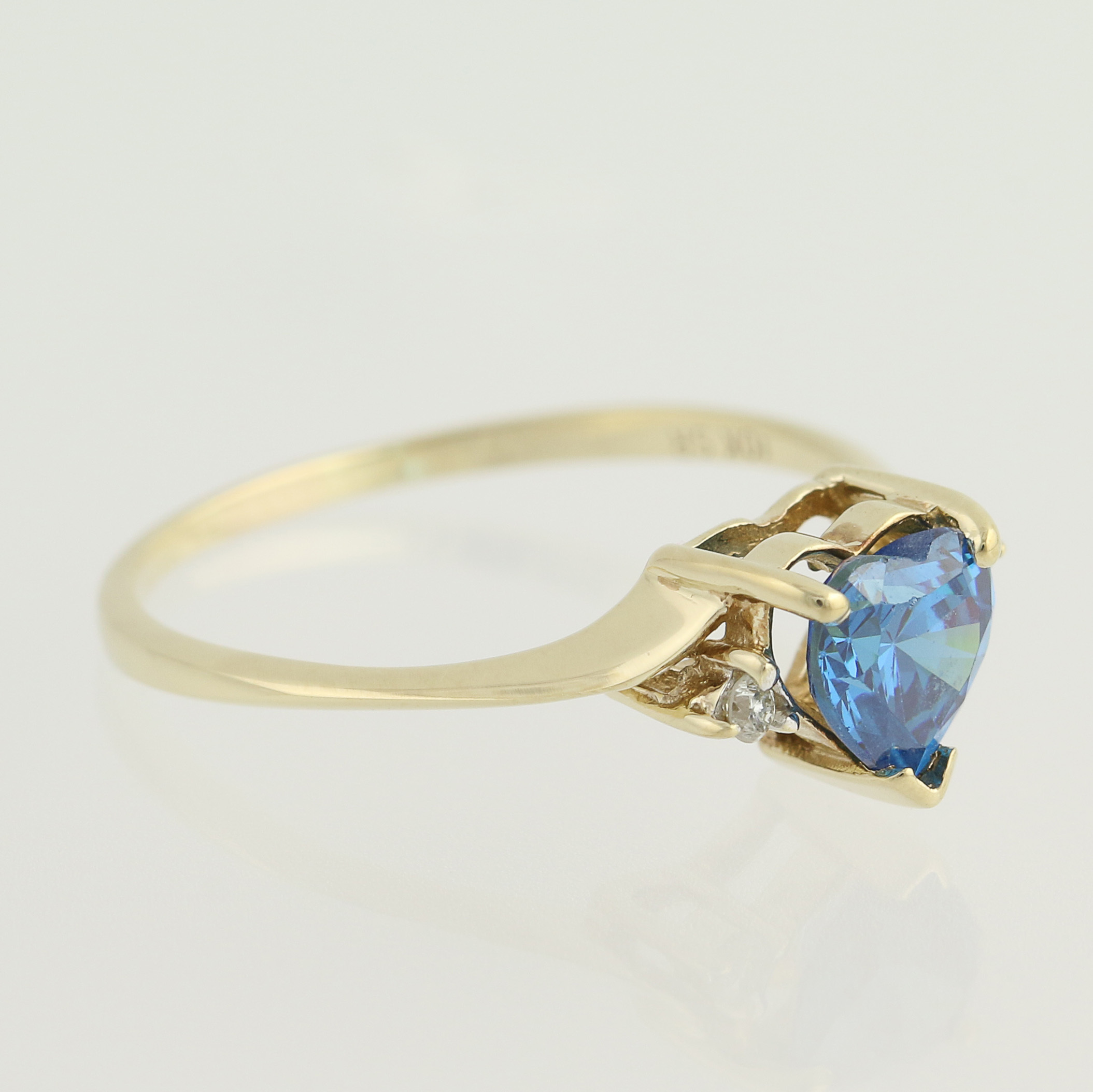bypass ring 10k yellow gold vintage ebay