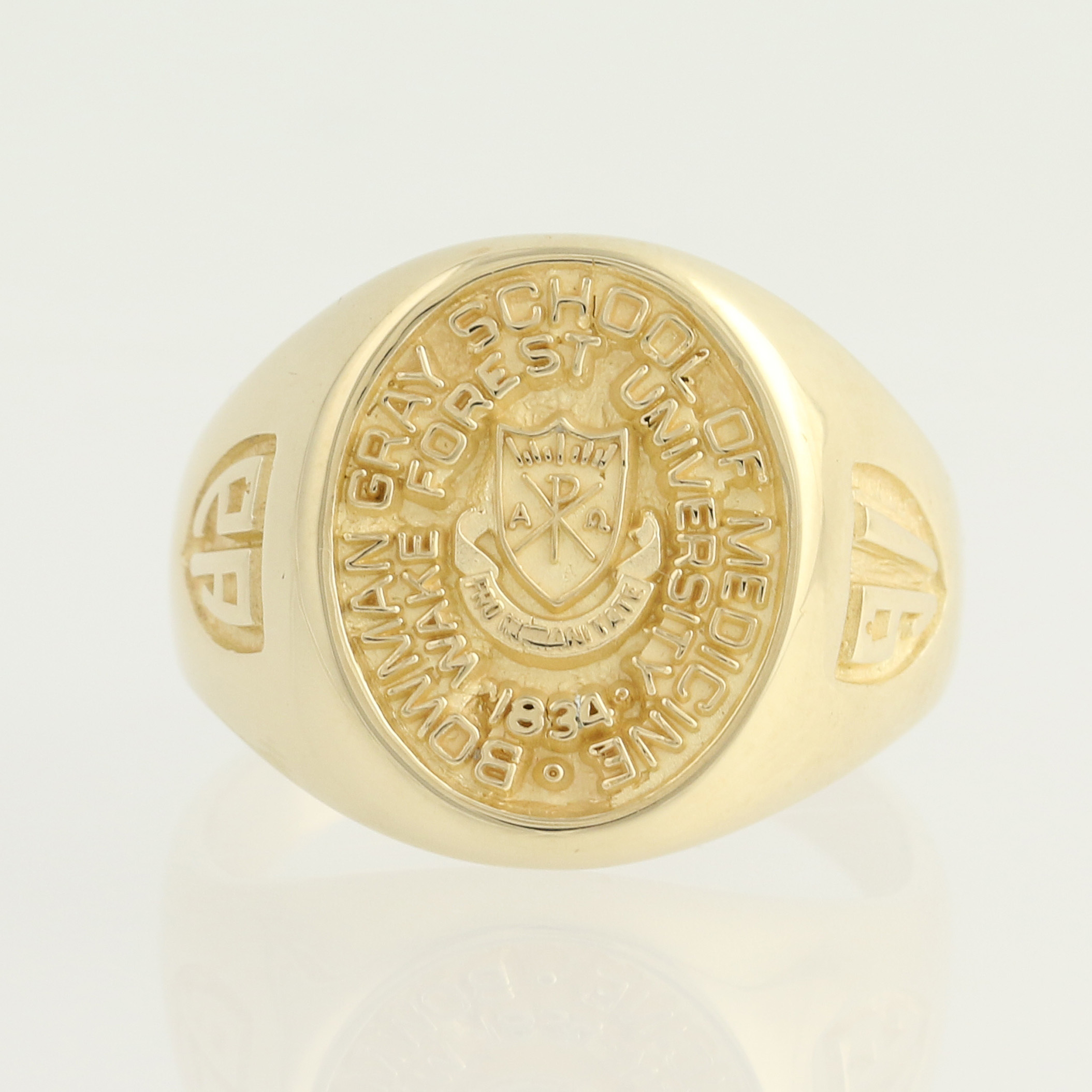 bowman gray school of medicine class ring 14k yellow gold
