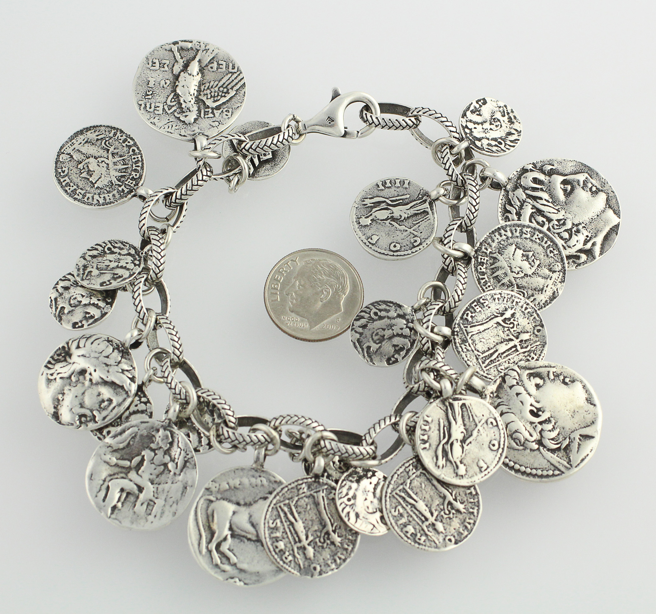 silpada charm bracelet 8 quot sterling silver ancient inspired