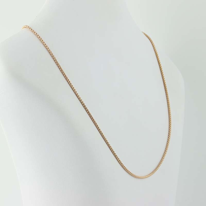 popcorn chain necklace 20 quot 14k gold italy s