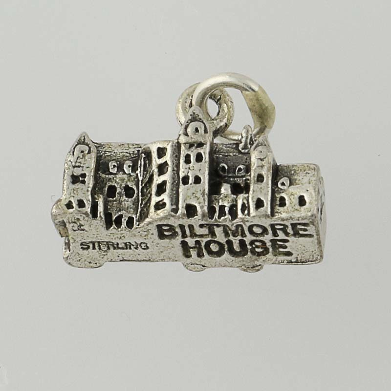 biltmore house charm sterling silver travel souvenir